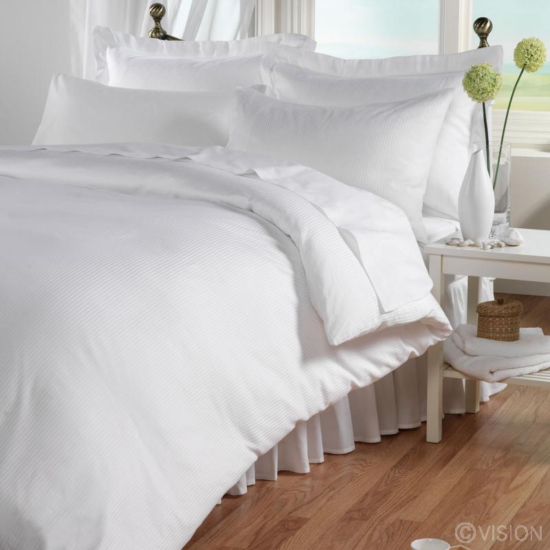 300 Thread Count Satin Stripe Cotton Duvet Cover