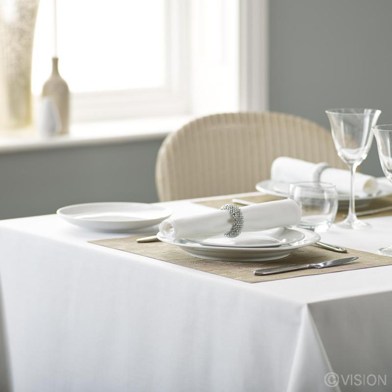 Alpha plain white polyester restaurant napkins
