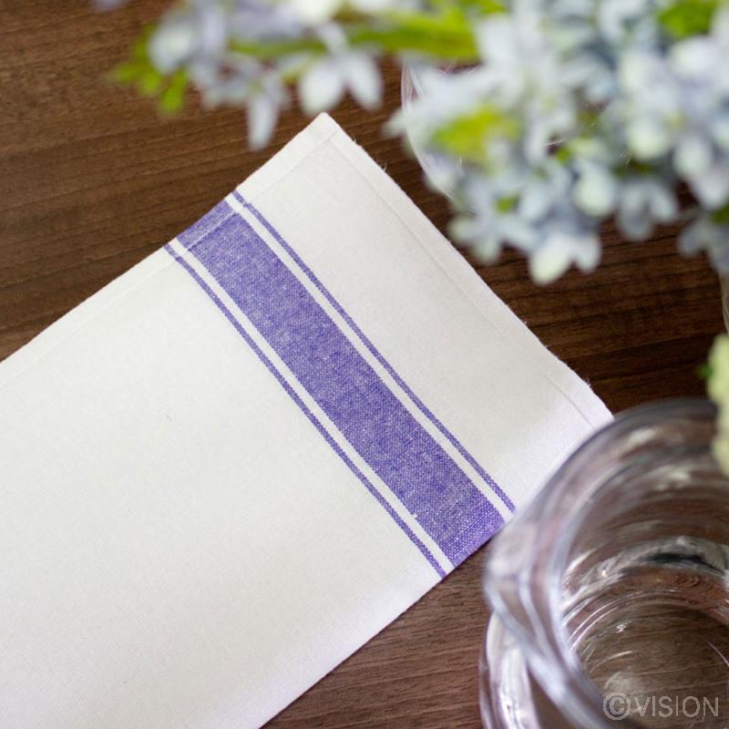 Glass cleaning cloths with striped blue design