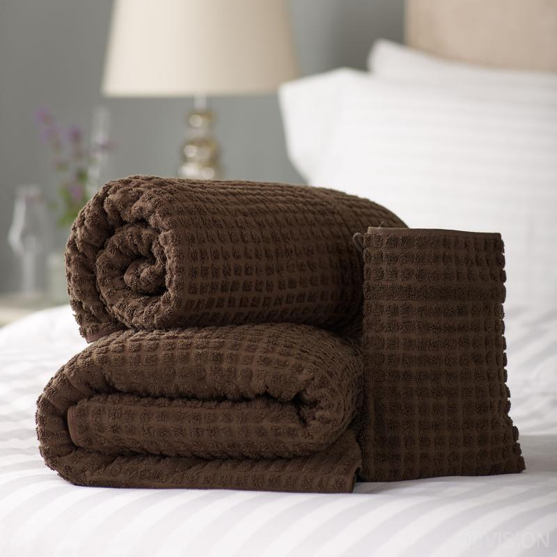 Mosaic Cotton luxury Spa Bath Towel - Chocolate