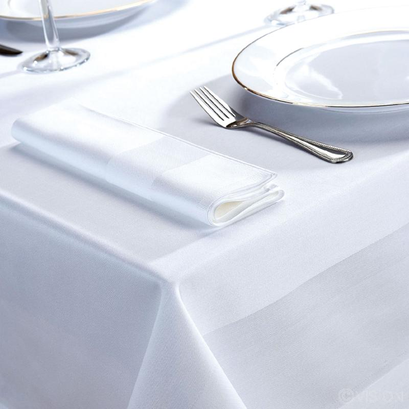 Delta white satin band 100% cotton napkins