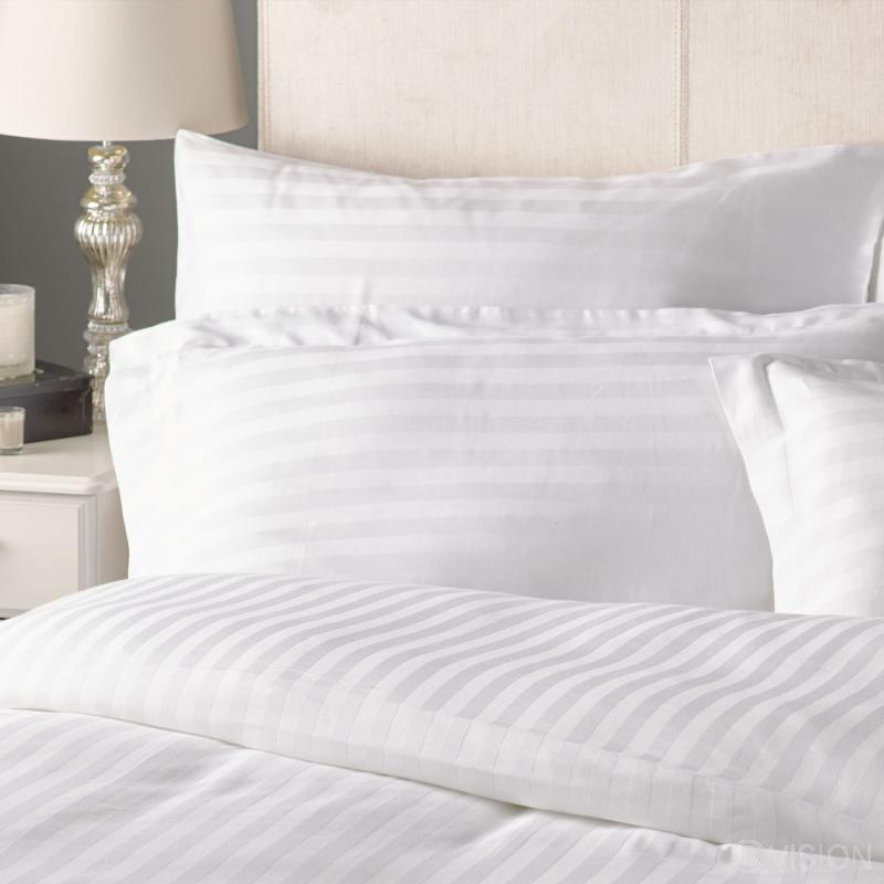 180 TC Cotton Satin Stripe Pillowcase