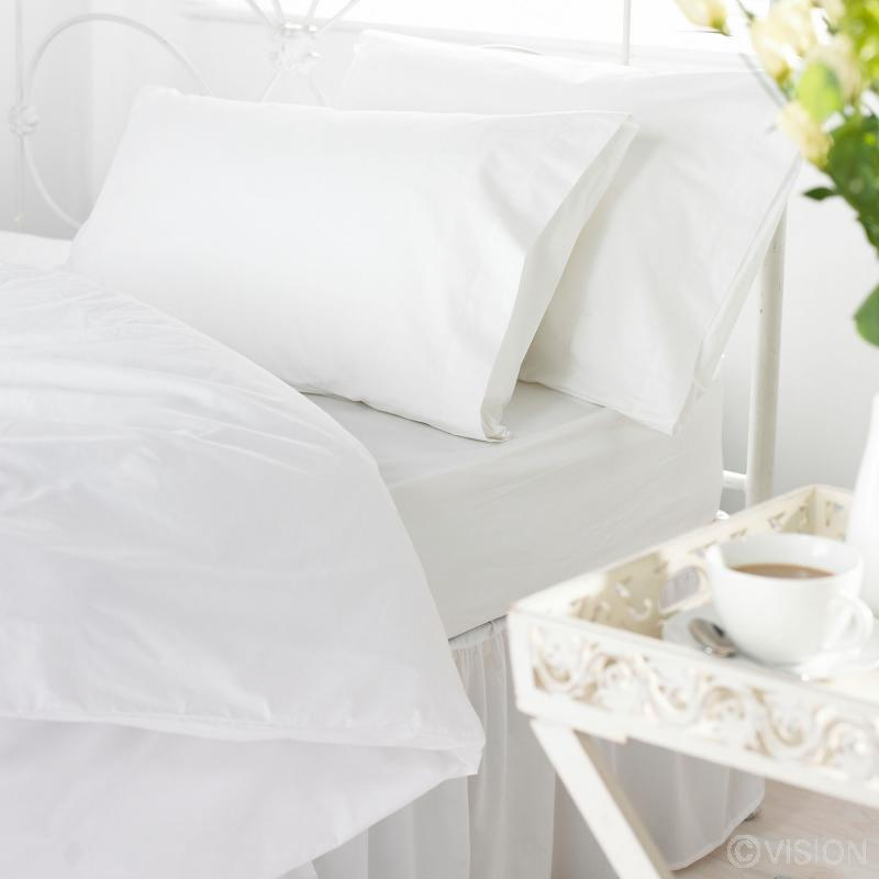 144 TC Durable Polycotton Fitted Bed Sheet