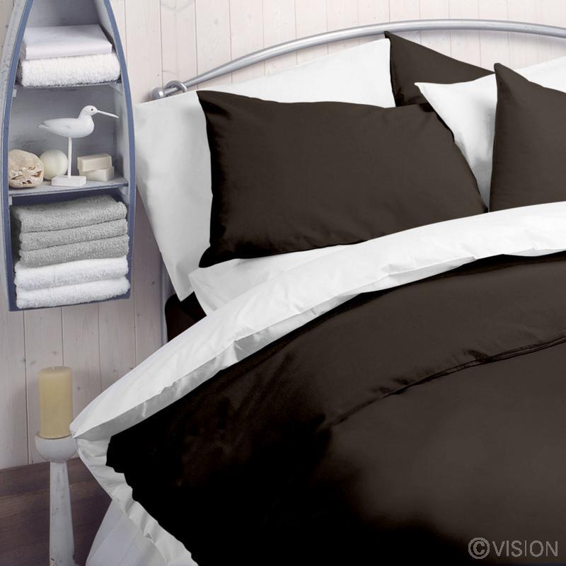 Chocolate Coloured 144 TC Polycotton Duvet Cover