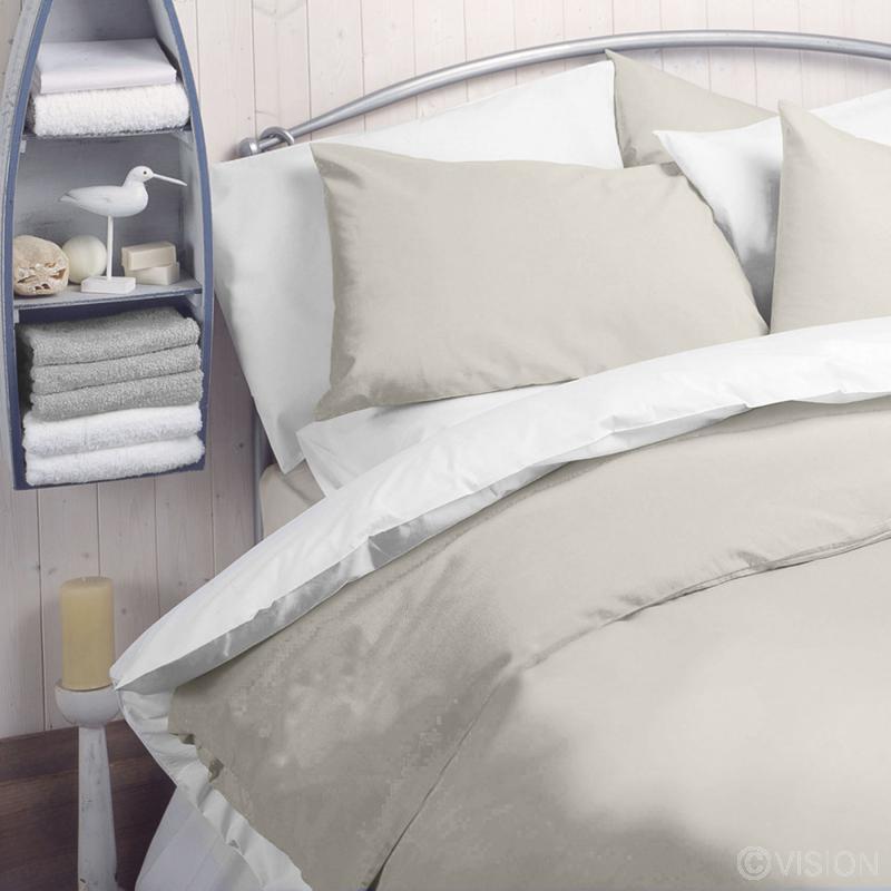 Cream 144 TC Polycotton Pillowcase