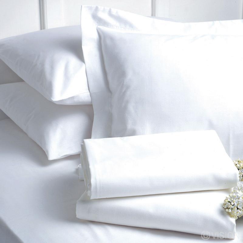 200 TC Luxury Plain White Pillowcase