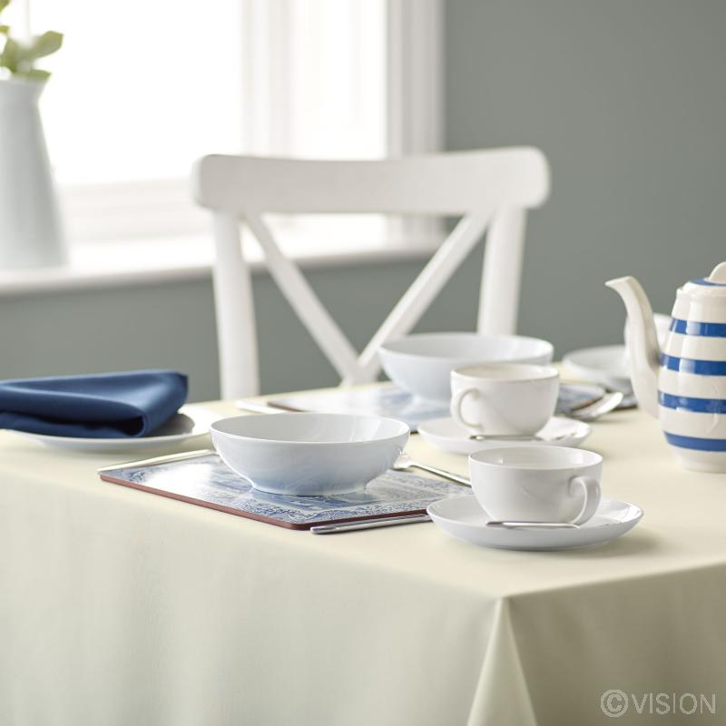 Riegel ivory coloured bistro spun polyester tablecloth