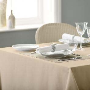 Alpha biscuit plain coloured polyester tablecloth