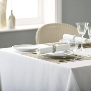 Alpha bistro plain tablecloth white