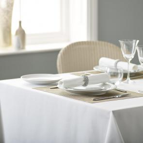 Alpha plain white polyester restaurant napkins