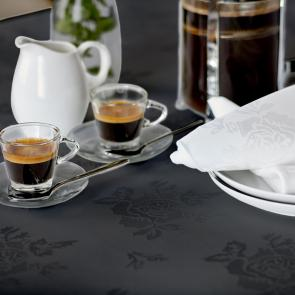Apollo Rose black bistro restaurant tablecloths