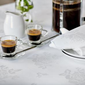 Apollo Rose white bistro restaurant tablecloths