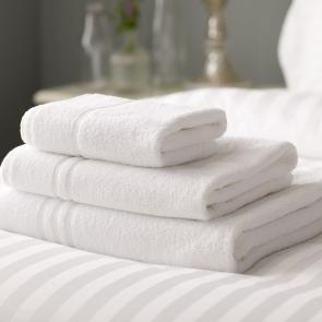 Cambridge White 100% Cotton luxury Bath Sheet - Detail