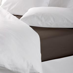 Chocolate Coloured Durable Polycotton Flat Sheet