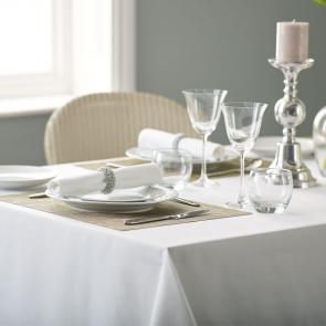 Alpha plain white wholesale tablecloths
