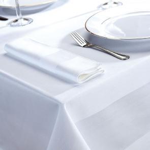 Delta white satin band 100% cotton napkins