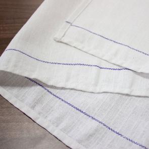 100% cotton durable waiters cloths with blue stripe