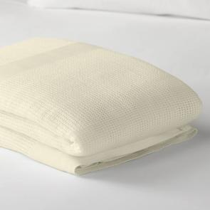 FR Polyester Cellular Blanket - Cream