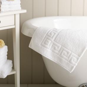 Hotel Pure Luxury Greek Key design 100% cotton bath mat
