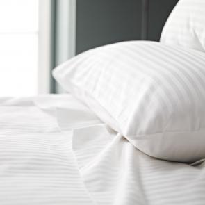 Luxury White Satin Stripe Pillowcase