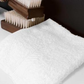 Lowry 100% cotton white cotton face cloths - 500gsm