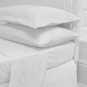 Luxury Plain Sateen Queen Size Flat Sheet