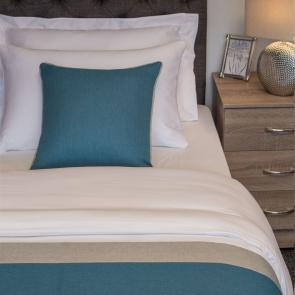 Nightingale Coloured Premium Cushion - Kingfisher (Silver Fern Edge)