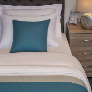 Nightingale Coloured Premium Cushion - Kingfisher (Silver Fern Edge)