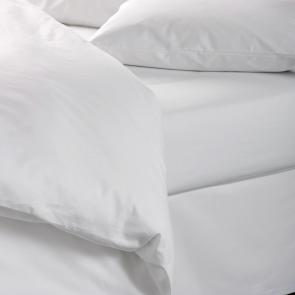 Hotel Pure Luxury 144 TC Polycotton Easy Care Flat Bed Sheet