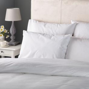 Hotel Pure Luxury Plain White 144 TC Polycotton Pillowcase