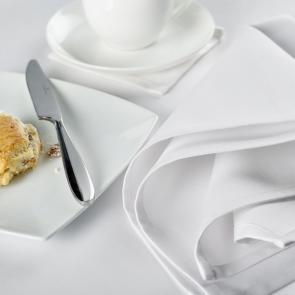 Liddell Epsilon white sateen 100% cotton luxury napkins