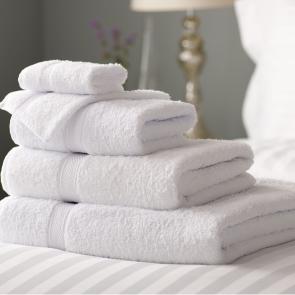 Renoir White cotton bath sheets