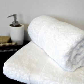 100% Turkish Cotton White Hand Towel - Clearance Seconds