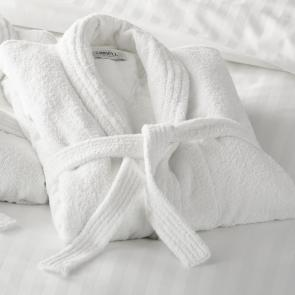 Richmond ultimate white hotel luxury bathrobe