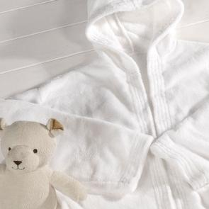 White soft Yale bathrobe Small Child