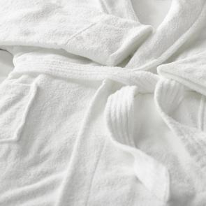 Quality Terry towelling white bathrobe belts