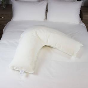 Glen V Shaped hotel Pillow Side View