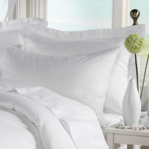 White Satin Stripe 200 TC Luxurious Cotton Pillowcase