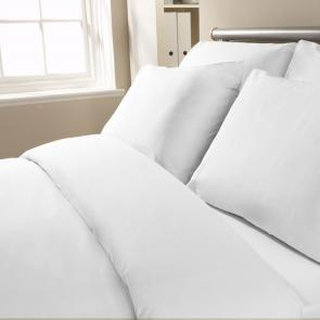 Polycotton White Duvet Cover
