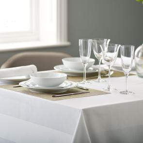 Athena elegant satin band 100% mercerised cotton bistro tablecloth