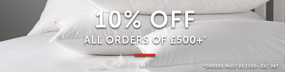10% off orders over £500