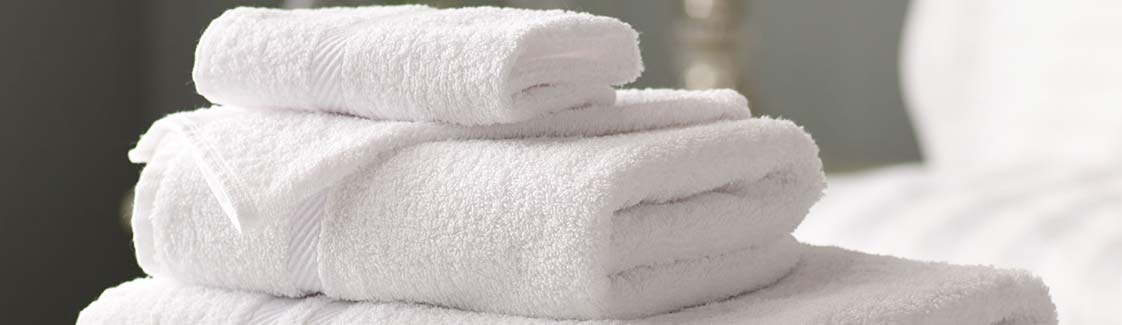 Towels stacked on top of eachother