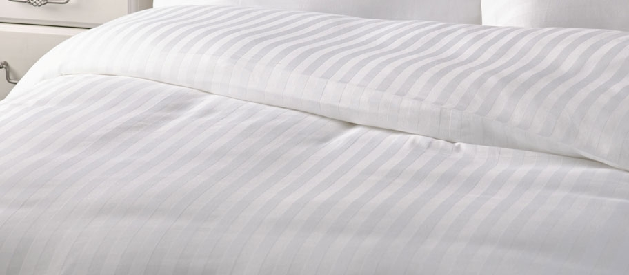 Milan Satin Stripe Duvet Cover