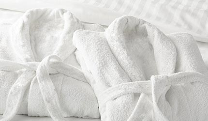 100% cotton terry towelling Imperial bathrobe