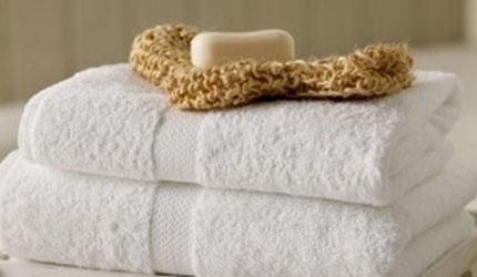 White monet towel