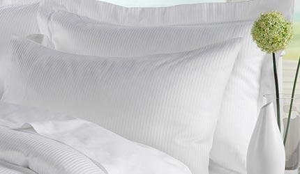 White satin stripe pillowcase