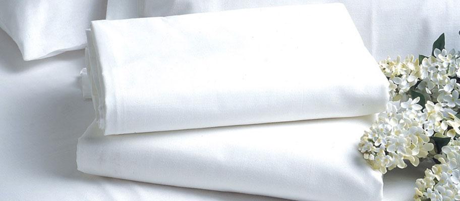 Renoir Plain White Percale Bed Sheets